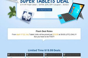 Gearbest.com :  SUPER TABLETS DEAL