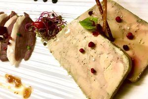 Foie gras de canard mariné au cognac