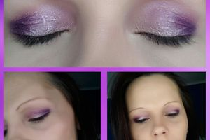 Make up mauve et rose