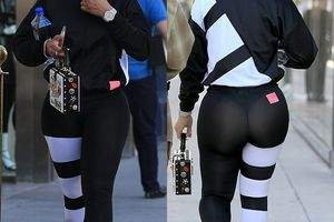 Is this dress? Blac Chyna steps out in sports see-through leggings [See Photos]