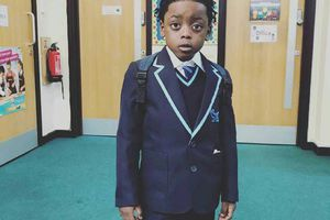 Terry G Shares Photo of His Lookalike Son As He Resumes School In UK