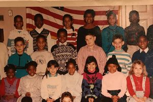 Spot American rapper Nicki Minaj in this throwback photo