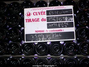 préparation du champagne