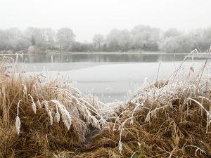 1er Janvier gelé sur le lac du Perray