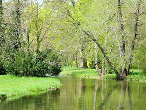 Le premier château, sa fontaine, et la quiétude d'un parc, paysage digne de la hollande, non ? ♥