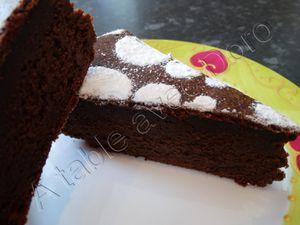 Moelleux au chocolat et courgette sans beurre
