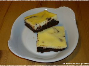 Brownie &quot&#x3B;marbré&quot&#x3B; cheesecake