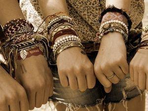 Des bracelets hippie chic !