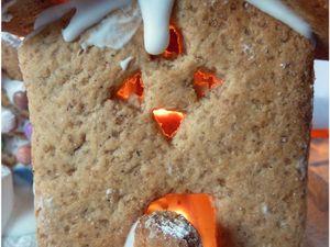 Notre cadeau pour le Père Noël: son village en pain d'épices.