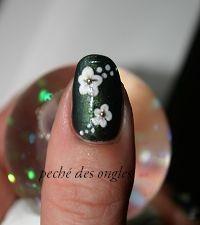 Nail art - fleur...