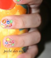 Nail art - M&amp&#x3B;M'S