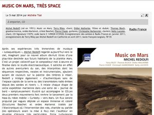 [ Album CD ] Music on Mars &gt&#x3B; presse (mai-juin 2014)