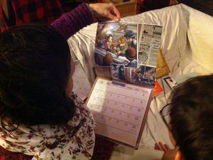 Agafia, Frida, Meredith et Marie pour m'accompagner en 2014. De très beaux moments de lecture en perspective.