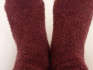 Youhouuuuuu! La neige. Et mes chaussettes top top moumoute pour avoir les pieds au chaud.