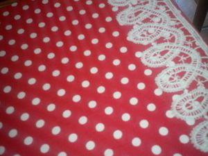 la dentelle vient d'une chemise de nuit que ma mère-grand m'a donnée et que j'ai usée.