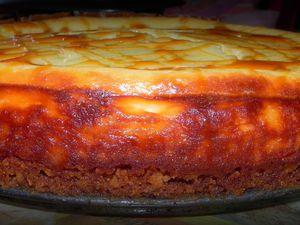 cheesecake aux bastognes et au caramel beurre salé