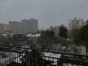 De la neige!!!!!