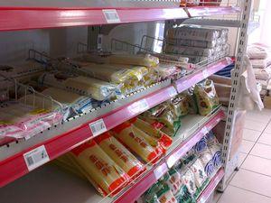 On peut même y trouver des brochettes de tofu piquant pour le goûter!