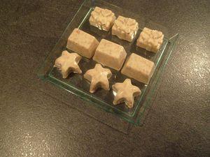 Chocolats blancs aux spéculoos