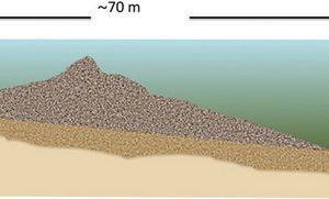 Une mystérieuse structure en pierre découverte sous la mer de Galilée