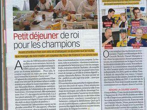 Article Petit déjeuner du Tour de France - Télé Loisirs