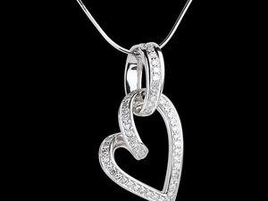 Collana Soffio Leggero - due ori  - Collana Promise - diamante neri - Ciondolo Cuore Appeso - 0.31 carati - 52 diamanti - Ciondolo Apostrofo diamante - oro giallo