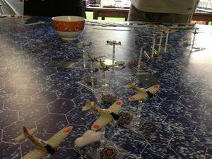 Les japonais n'auront pas tenus la distance et se sont fait anéantir par la chasse américaine avec une victoire decisive !