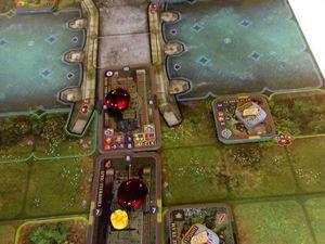 L'anglais subit des pertes mais continu à faire le ménage à distance et passe le pont en dur avec ses chars