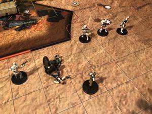Le faucon millenium vole ! A peine rentré sur le tarmac les pauvres rebelles sont pris en sandwitch et c'est le drame.