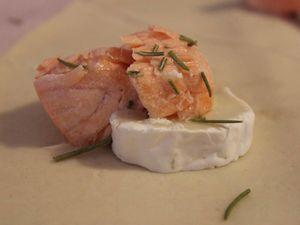 Feuilletés saumon chèvre