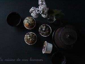 Muffins aux myrtilles et pluie de printemps