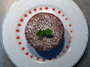 Moelleux au Chocolat au Cœur Blanc Sans Gluten - pour 4 personnes