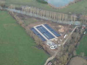 la future station d'épuration de Pontigny aujourd'hui et le 18 mai 2014