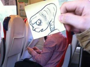 Des cartoons dans les trains !