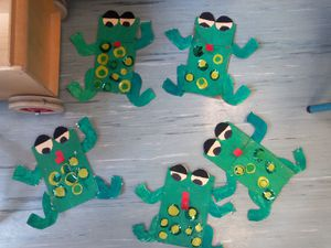 our frogs puppets