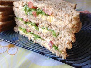 Sandwich rapide au pain complet
