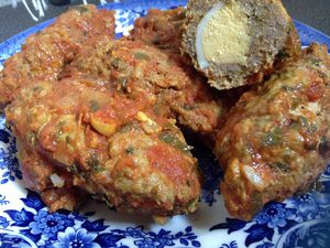 Viande hachée farcie d'oeufs durs *Ramadan*