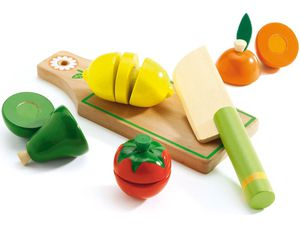 La cuisinière Félix le chat et Les fruits à découper de Djecco