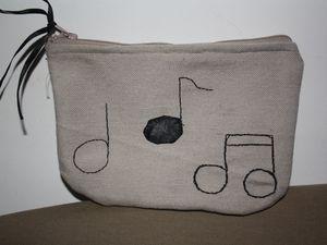 Trousse tissu personnalisée musique