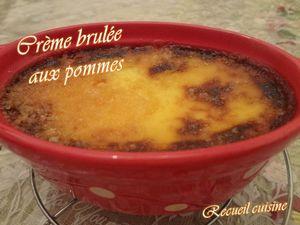 Crème brûlée au pommes caramélisées