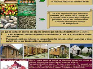 FONDATION &quot&#x3B;Des Terres Pour Vivre&quot&#x3B; - Descriptif détaillé du projet pour abolir la précarité en France