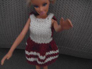 DIY robe bicolote pile ou face Barbie