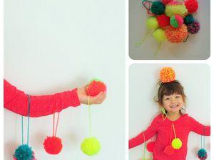 DIY ▲ Déco de noël et headband pompons