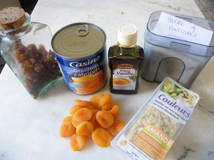 Confiture d'abricot au sirop et fruits secs