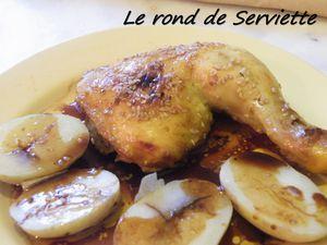 Cuisses de poulet rôties miel-soja