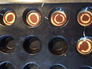 Les petits muffins avec le reste de pâte !