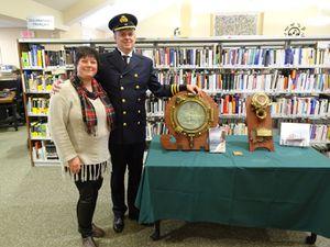 Le 12 novembre 2016 à la bibliothèque de Saint-Lazare | Avec la visite de Guy D'Astous, un passionné de l'Empress of Ireland et grand collectionneur