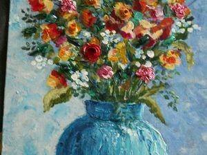 peinture : bouquets fleurs, nature morte