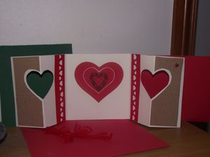 scrap carte st Valentin