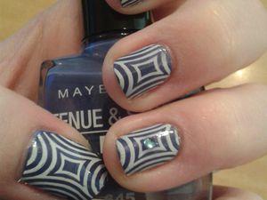 Nail Art Stamping motif géométrique